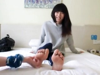 Tickle Chinese girl student 3