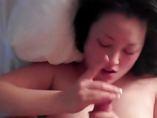 Cute Chinese girl gets the cum out