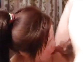 Amateur MMF Threesome - extremely cute Chinese wife loves it
